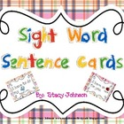 Sight Word Sentence Cards