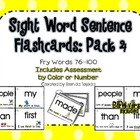 Sight Word Sentence Flashcards and Assessment Pack 4: Fry