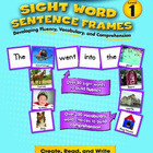 Sight Word Sentence Frames Level 1 Bundle