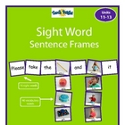 Sight Word Sentence Frames Units 11-13