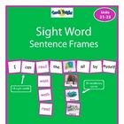 Sight Word Sentence Frames Units 21-23