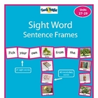Sight Word Sentence Frames Units 27-29