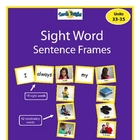 Sight Word Sentence Frames Units 33-35