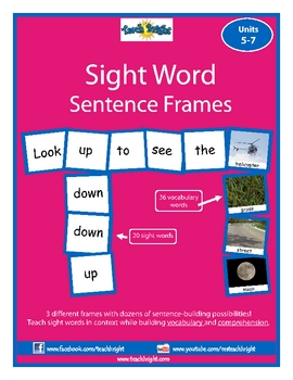 Sight Word Sentence Frames Units 5-7