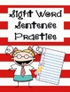 Sight Word Sentence Practice (Common Core RF.K.3)