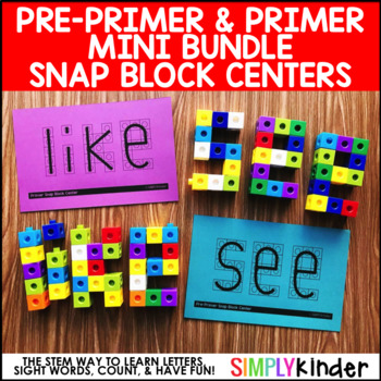 Sight Word Snap Cubes - Pre-Primer & Primer List