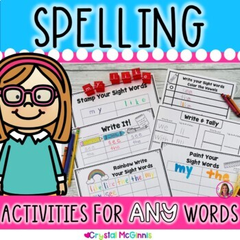 Sight Word Spelling Practice Activities For ANY Words Perf