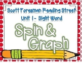 Sight Word Spin and Graph- 1st Grade Reading Street Unit 1