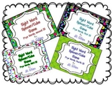 Sight Word Spinner or Cube Games - Bundle, Frye first 100 list