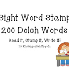 Sight Word Stamp! 200 Words!