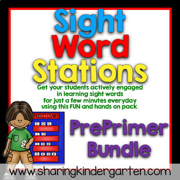 Sight Word Stations {PrePrimer~Bundled}