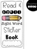 Sight Word Sticker Book