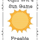 {FREE} Sight Word Sun Game {List 1}