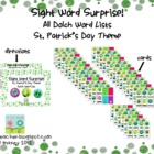 Sight Word Surprise - All Dolch Words - St. Patrick's Day