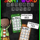 Sight Word Texting Codes (Pre-Primer)