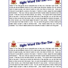 &quot;Sight Word Tic-Tac-Toe&quot; Games for Literacy Centers