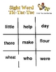 """Sight Word Tic-Tac-Toe"" Games for Literacy Centers"