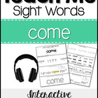 Teach Me Sight Words: COME [Interactive Center with Printa