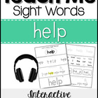 Sight Word Tutor: HELP [Interactive Center with Printables