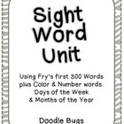 Sight Word Unit: Fry&#039;s first 300 Words, Color, Number, Day