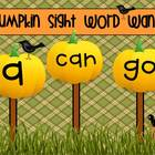 Sight Word Wands Pre- Primer: Pumpkin Set