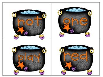 Sight Word Wands Pre-Primer: Spooky Cauldrons