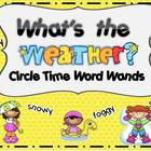 Sight Word Wands Pre-primer Weather Wands