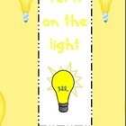 Sight Word game Turn on the light list 1-5 bundle