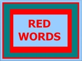 Sight Word/Red Word/Popcorn Word Visual Activity