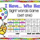 Sight Words Activity~ I Have, Who Has? Game Cards {Set One}