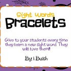 Sight Words Bracelets
