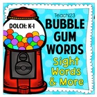Sight Words - Bubble Gum Words - Editable