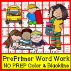 "Sight Words Center Cards ""Dolch Pre-Primer"" Level 1 in a S"