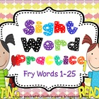 Sight Words Cut, Paste, Write, Highlight and Find ( Fry List 1-5)