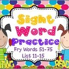 Sight Words Cut, Paste, Write, Highlight and Find {Fry Lis