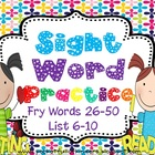 Sight Words Cut, Paste, Write, Highlight and Find ( Fry Li