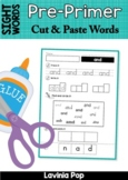 Sight Words - Cut and Paste Worksheets (Pre-Primer Words)
