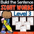 Sight Words Dolch List 3 Build the Sentence {20 print and
