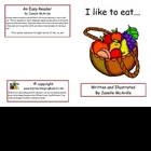 Sight Words Early Reader - I like to eat..