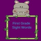 Sight Words-First Grade-Please leave feedback for this item!!