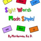 Sight Words Made Simple! I Can