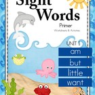 Sight Words - Primer Unit 1 am, but, little, want {FREE}