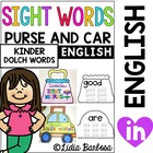 Sight Words Purse and Carrying Case for Kindergarten