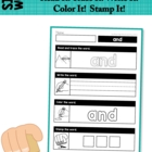 Sight Words - Read it - Trace it - Stamp it - Color it (Pr
