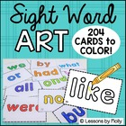 Sight Words To Color High Frequency Word Cards Abc Headlin