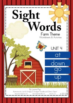 Sight Words - Unit 4 at, down, go, up