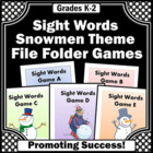 Sight Words Winter Independent Work Tasks for Autism