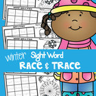 Sight Words - Winter Race and Trace Worksheets