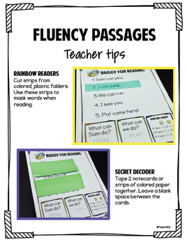 Sight Words and Fluency activities - PrePrimer Level - Ali