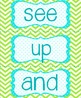 Sight Words for the Word Wall: Blue, green, and white (Pol